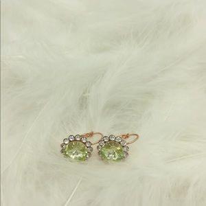 👑🌟🌟gold cuff crystal earrings